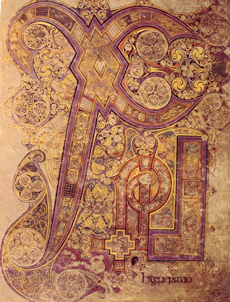 Chi Rho initials from the Book of Kells
