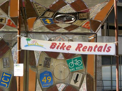 bike rental kiosk