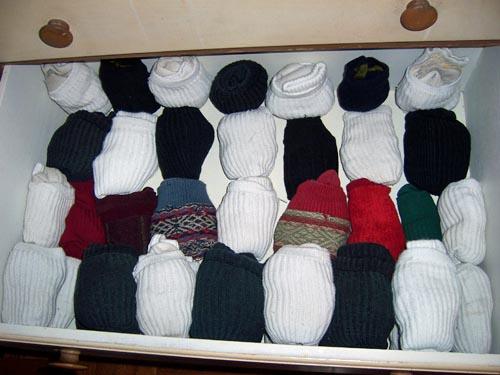 socks in drawer