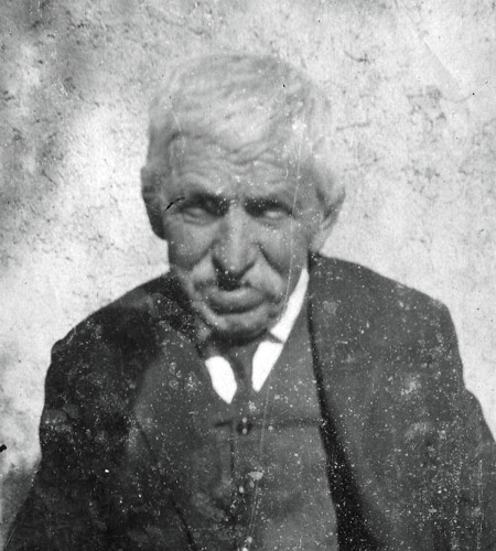 old photograph of an old man