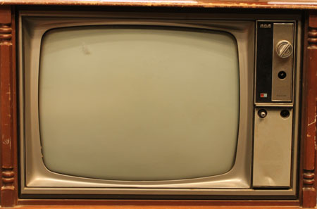 old RCA television