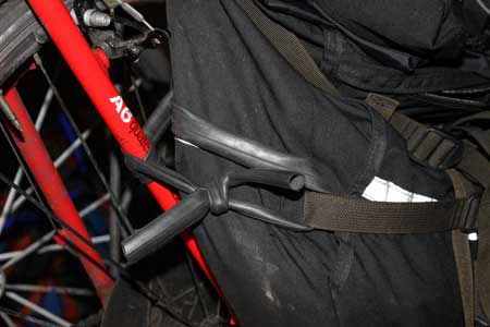 secure pannier with bicycle inner tube