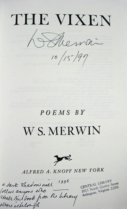 Merwin's book curse