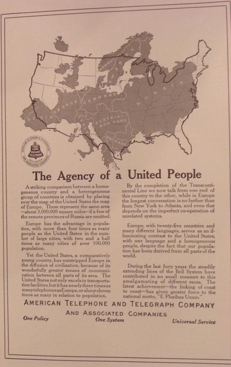 AT&T advocates universal telephone service