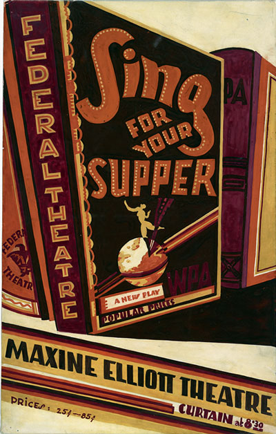 Federal Theatre Project, Sing for Your Supper, promotional poster