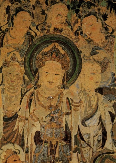 Avolokitesvara, a male Buddhist diety who became Guanyin in Chinese Buddhism