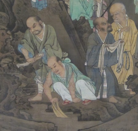 Luohan-monks doing laundry