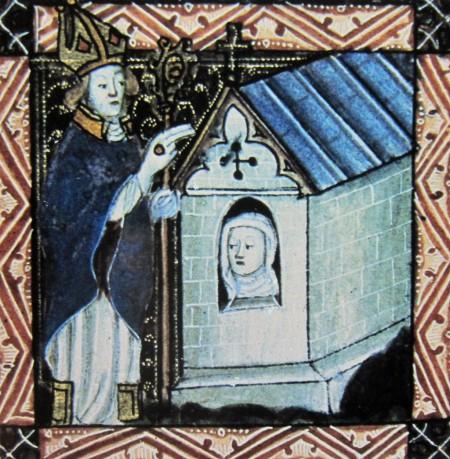 Bishop enclosing an anchoress