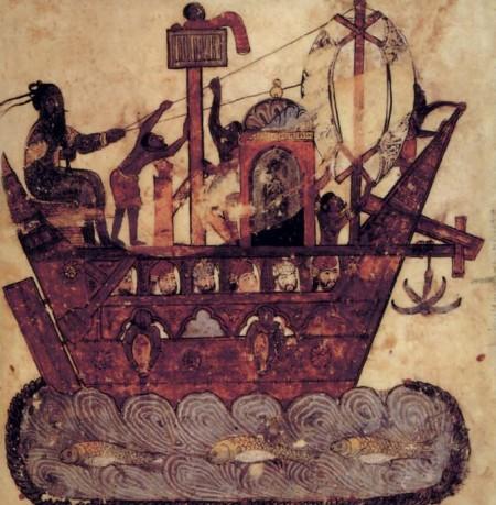 ancient sailors on Hariri ship