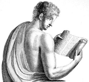 Roman reading scroll