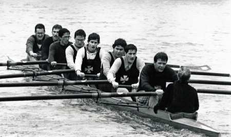 Worcester graduate eight at Oxford torpids 1987