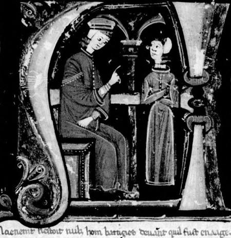 Petrus Alfonsi, illumination in Bibliothèque Nationale MS. Français 726