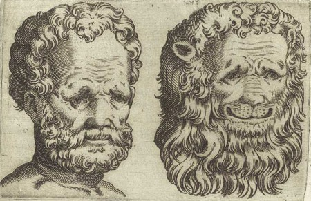 physiognomy of man and lion
