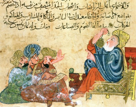 Aristotle teaching Arabs as