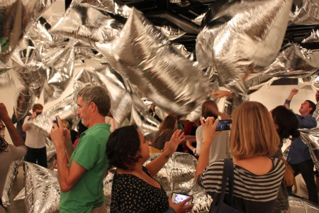 Andy Warhol Silver Clouds blockbuster opening