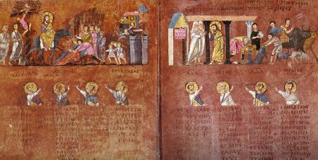 purple parchment from the Rossano Gospels
