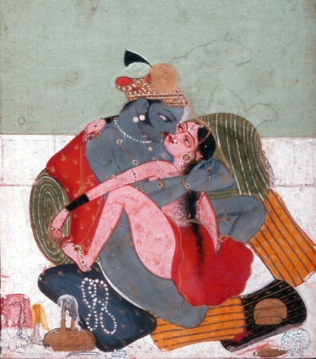 Indian painting of sexual instruction, c. 1725