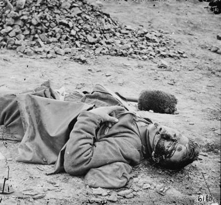 dead soldier, US Civil War, 1865
