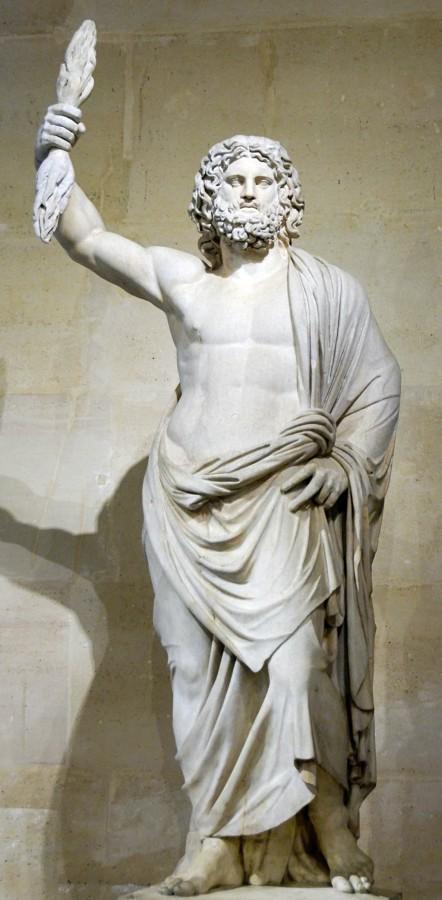 sculpture of the god Jupiter de Smyrne, a Roman version of Zeus
