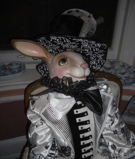 rabbit doll ponders male dominance