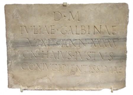Roman epitaph to Julia Galbina