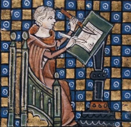Jean de Meun writing the Romance of the Rose