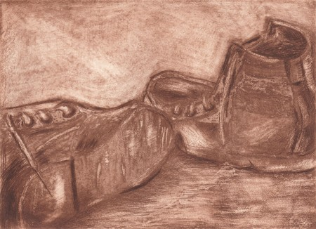 print of old shoes