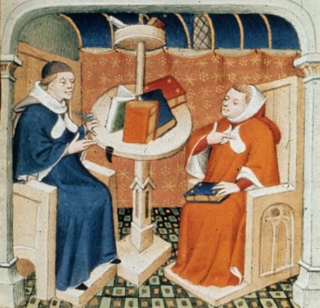 Petrarch teaching Boccaccio