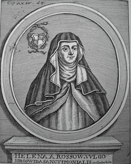 imagined portrait of Hrotsvit of Gandersheim