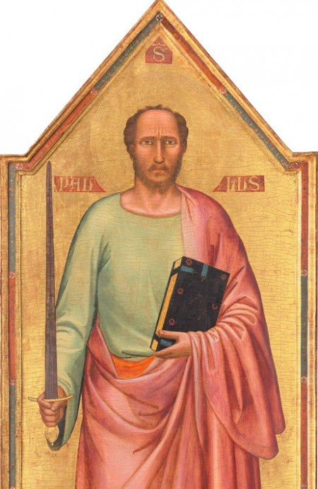 Saint Paul, displaying large sword