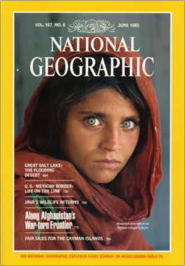 Afghan cover girl for National Geographic