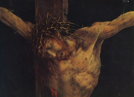 Christ suffering passion in Isenheim Altarpiece