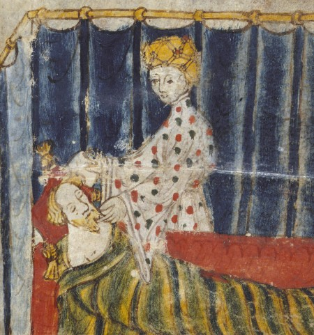 Gawain tempted by wife of Bercilak de Hautedesert: De coniuge non ducenda!