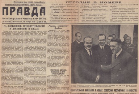 Pravda: Soviet official meets with Hitler in 1940