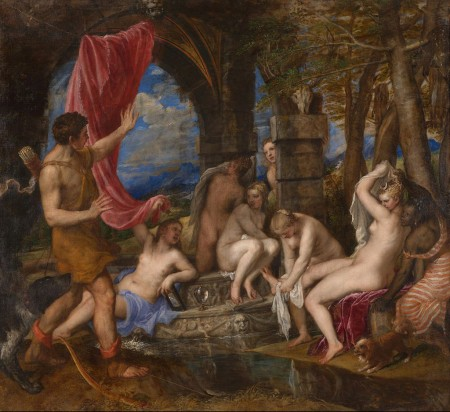 Actaeon sees nude women