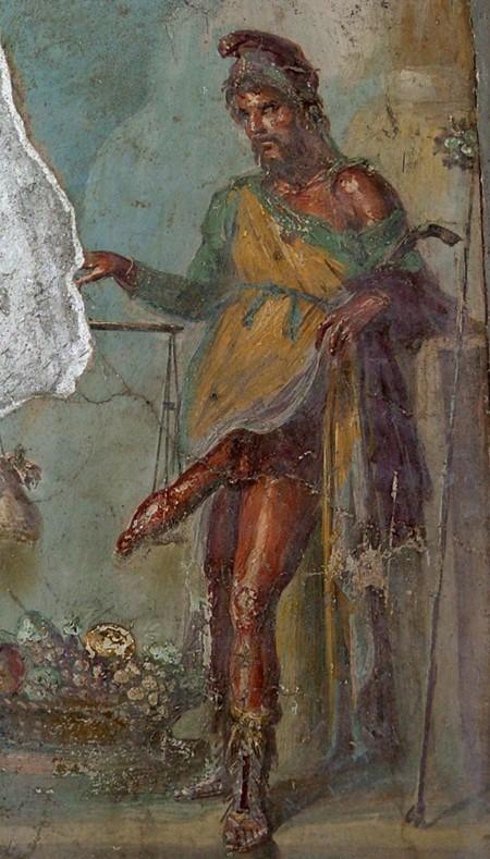Priapus weighs penis against money