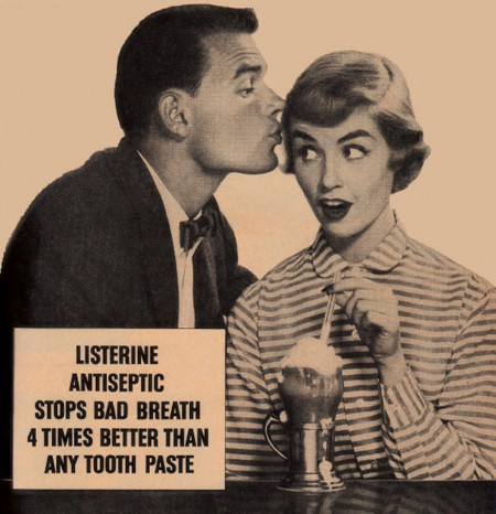 Listerine stops bad breath