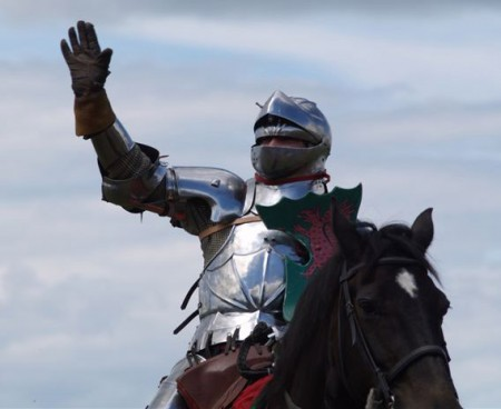 knight greeting others