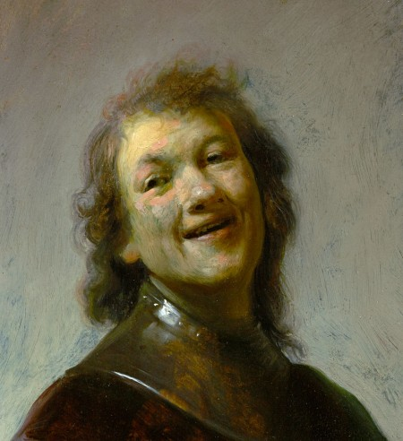 Rembrandt as laughing philospher Democritus