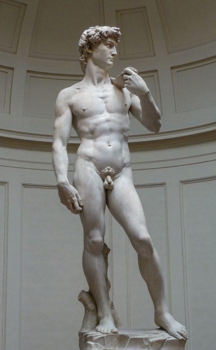 David: penis at center