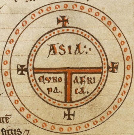 medieval-T-O-schematic of world