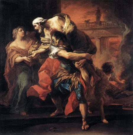 Aeneas carrying his father Anchises