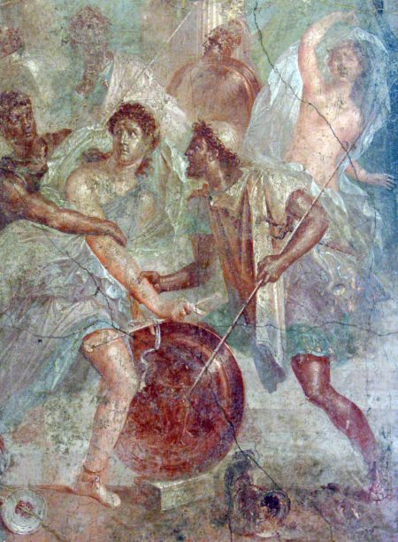 Achilles discovered in women's clothing on Skyros