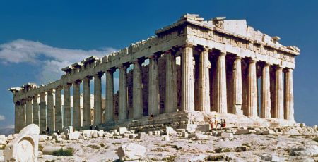 ruins of Parthenon in Athens