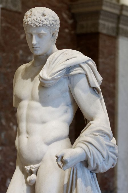 Lysippos sculpture of Hermes as exemplar of masculine beauty