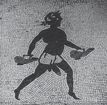 bath attendant mosaic from Pompeii