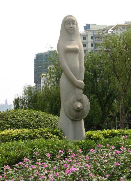 maiden in garden