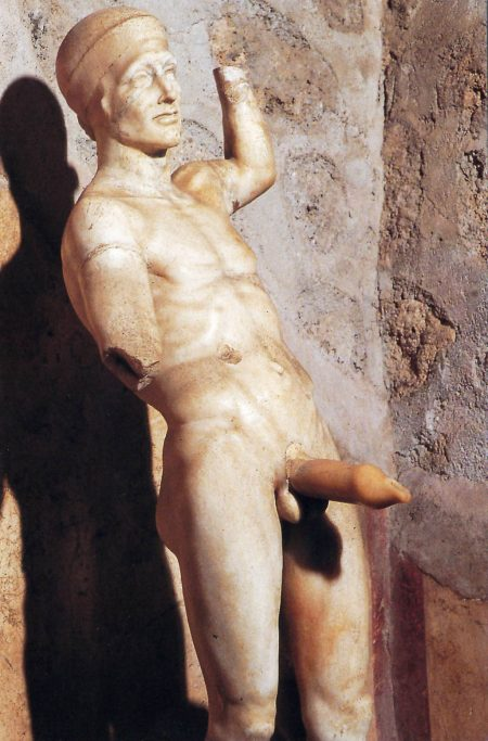 Priapus sculpture at Pompeii