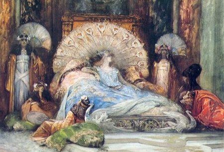 Sarah Bernhardt as Theodora in bed
