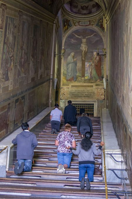 climbing the Scala Sancta